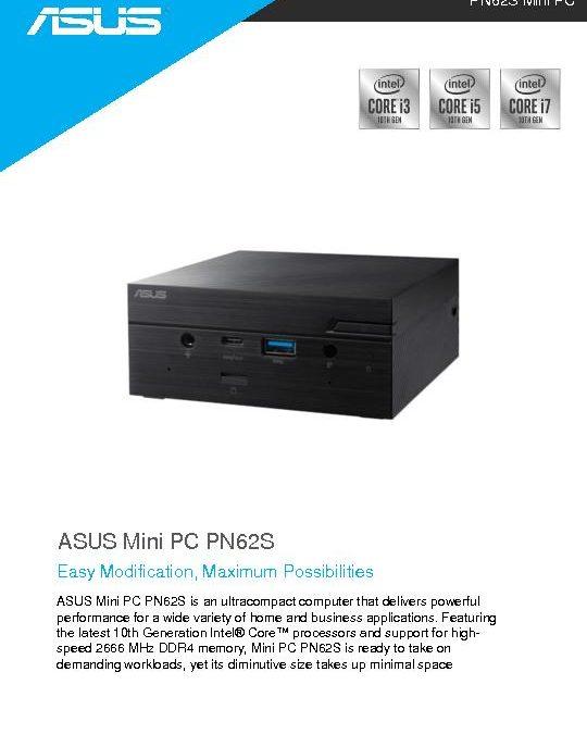 ASUS PN625 Mini PC Datasheet