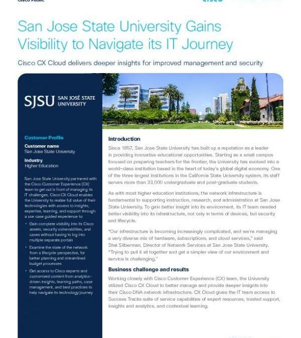 San Jose State University Gains Visibility to Navigate Its IT Journey