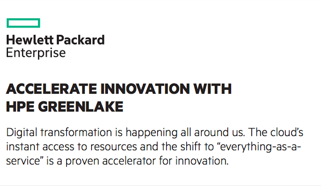 Accelerate Innovation with HPE