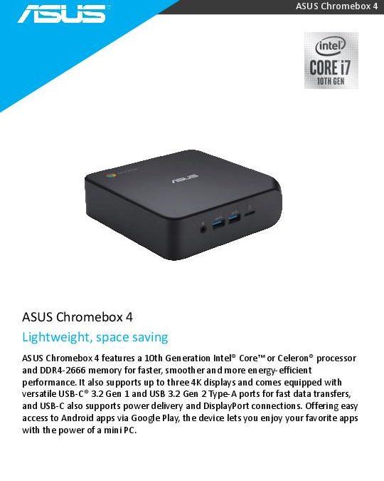 ASUS Chromebox 4 – Lightweight, space saving